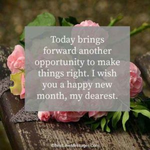 Happy New Month Wishes to My Love