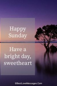 Good Morning Sunday Messages to My Sweetheart Image