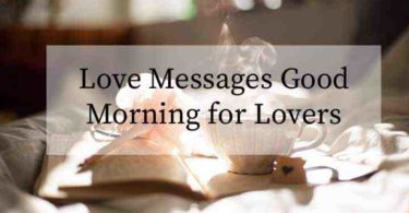 Love Messages Good Morning