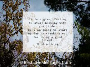 Amazing Good Morning Messages for Friends