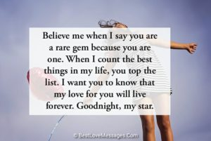 Sweet Good Night Text Messages for Her