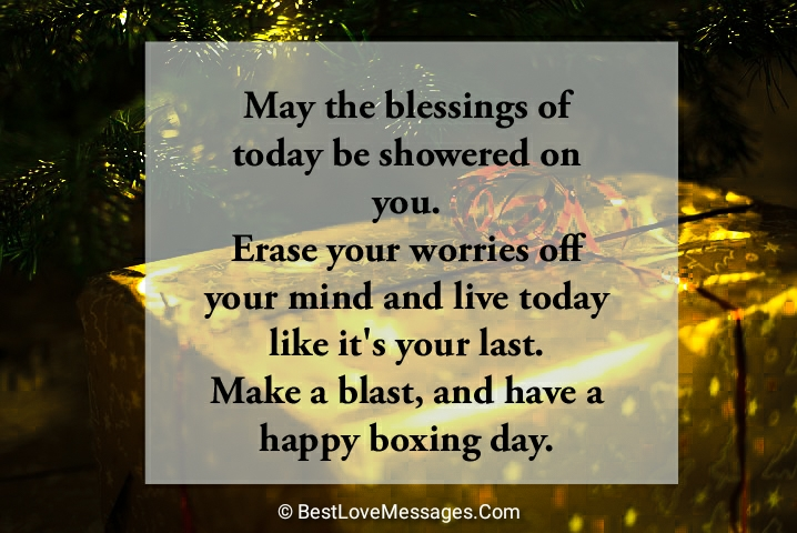 Happy Boxing Day Messages for Family and Friends