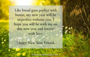 Happy New Year Messages for Best Friend