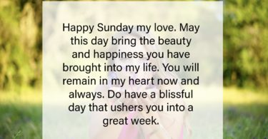 Sunday Text Messages for Her