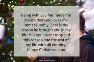 Christmas Love Messages for Boyfriend