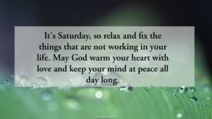 Saturday Blessings Quotes Image