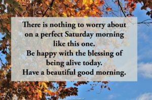 Saturday Morning Blessings Image