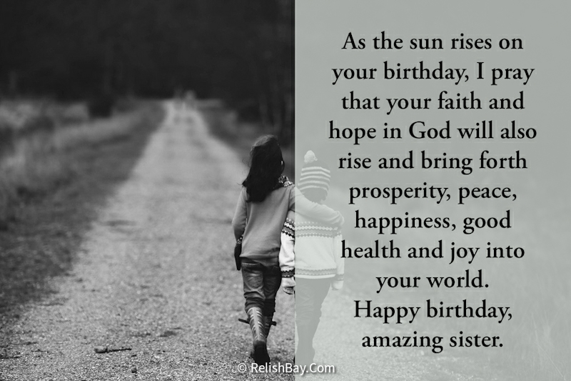 Birthday Prayers for Sister