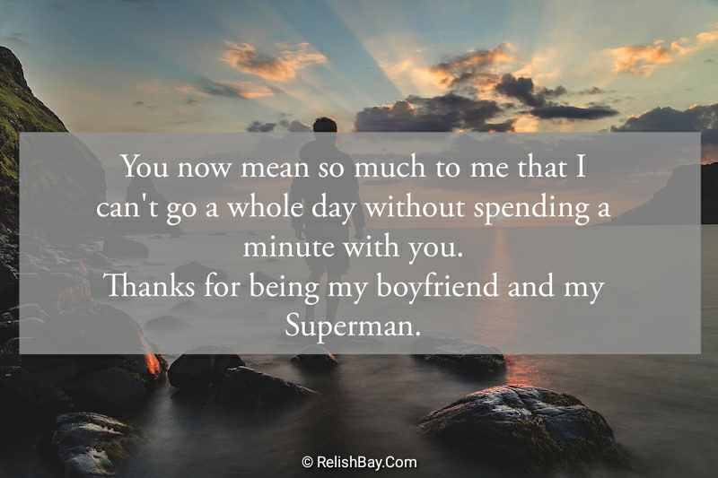 Thank You Messages for Boyfriend