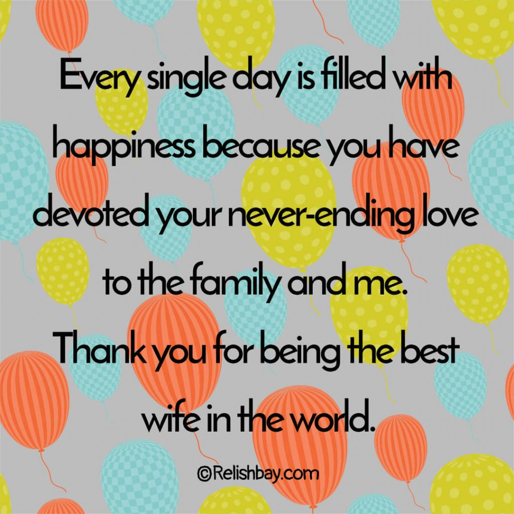 Thank You for Being My Wife